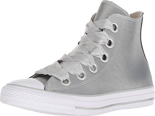 Converse Damen Chuck Taylor CTAS Big Eyelets Hi Sneakers, Mehrfarbig (Metallic Silver/White 499), 41.5 EU (Damen Star Silber Converse All)