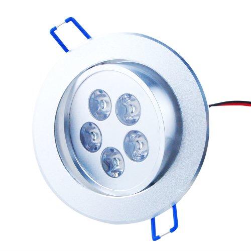 THG 4x 5W 5 LED 500LM bianco freddo rotondo da incasso Roof Lampada da soffitto Luce Gabinetto Bulb Downlight 100V - 240V + LED driver