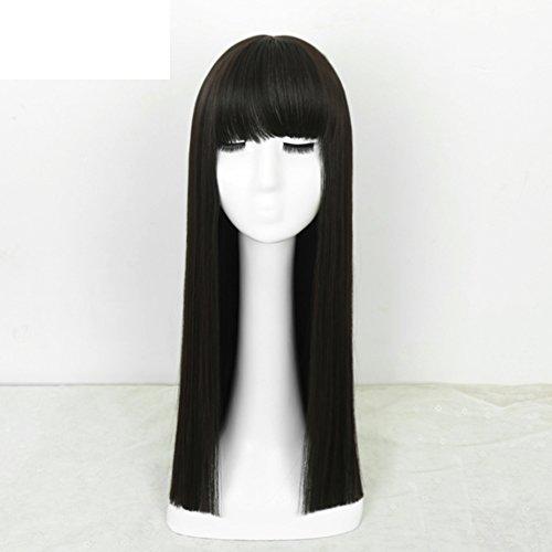 capelli lunghi donna/ riparazione naturale faccia Xie Qi Liu/Autentico capelli lunghi neri-A