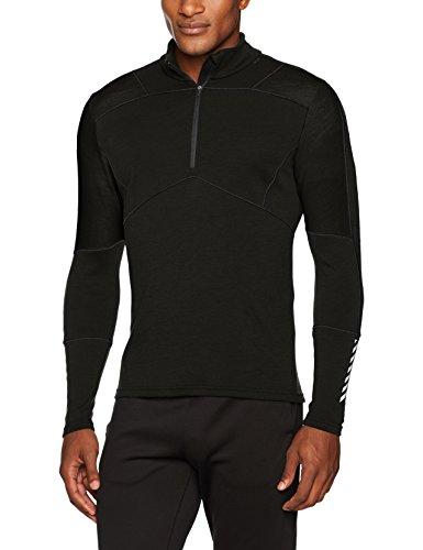 Black Max Wind (Helly Hansen HH Lifa Max 1/2Zip Shirt Merino Wolle, Herren XL Black (Schwarz))