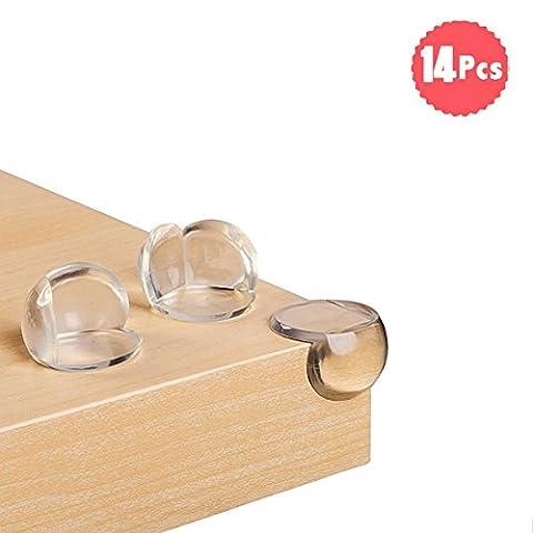 DoGeek Protections d'angles et rebords 14 pièces protege coin de table-Soft Protection d'enfant Protection de meuble Protection d'angle de bord Protection de bébé Protecteur de sécurité (14 pcs)