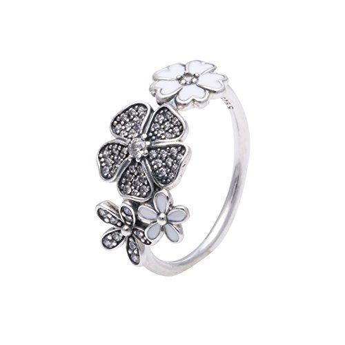 lumen-Bouquet 925 Zirkonia silber Gr. 52 (16.6)-190984CZ-52 (Silber Blumen-ring)