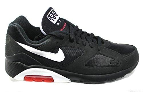 Nike Air 180 310155006, Baskets Mode Homme Noir, blanc et rose fluo