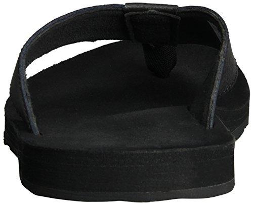 Timberland Herren Wild Dunes Lthr Flipflopblack Sandalen, Schwarz (Black Madras Enhanced Leather), 46 EU -