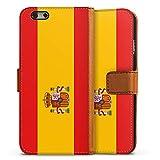 DeinDesign Apple iPhone 6s Étui Étui Folio Étui magnétique Drapeau de l'Espagne