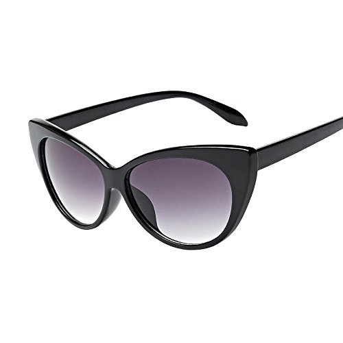 Galleria fotografica Topgrowth Occhiali da Sole Donna Vintage Occhio di Gatto Occhiali Retrò Aviatore Eyewear Cat Eye Sunglasses