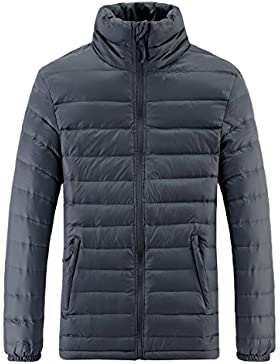 Madhero para hombre invierno térmico acolchado abrigo portátil ligero senderismo Outerwear
