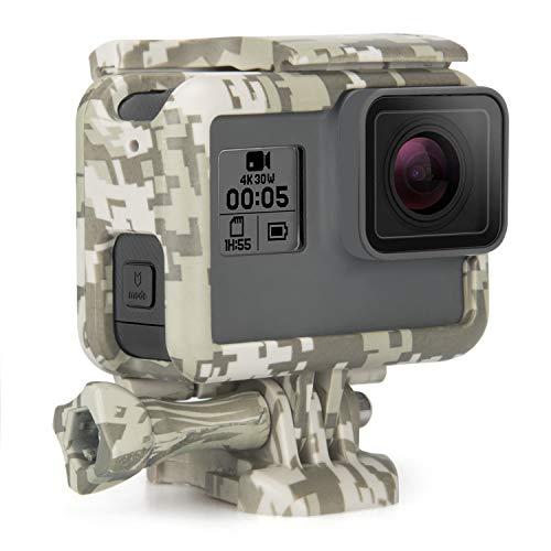 Rhodesy Cadre Boîtier de Protection pour Gopro Hero7 (Noire)/2018/6/5, Boîtier de Monture de Camouflage avec Boucle à Déclenchement Rapide pour Caméra GoPro Hero 7 (Uniquement Noire) Hero 2018/6/5
