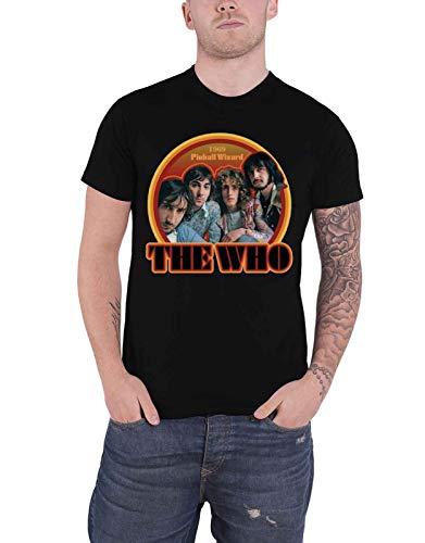 The Who T Shirt Pinball Wizard 1969 Band Logo Nue offiziell Herren (Wizard Herr Dvd)