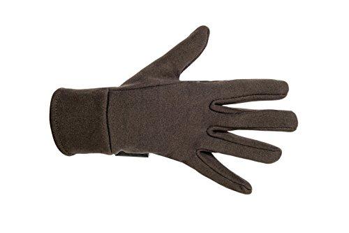 HKM Damen Reithandschuh-Fleece Handschuhe, Braun, M