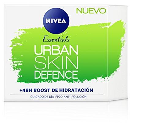 Nivea Urban Skin Defence Cuidado de Día FP20 Anti-polución - Paquete de 3 x 50 ml - Total: 150 ml
