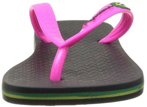 Ipanema Classica Brasil II Ff, Tongs femme Noir (Black/Pink)