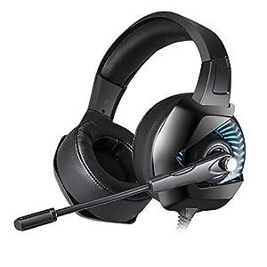 KARTELEI Gaming Headset Stereo Over-The-Ear-Geräuschisolierung Ergonomie Kopfhörer für PC, Xbox One, PS4, Nnintedo Switch