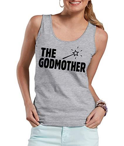 Milky Way Tshirts La Madrina de los Hombres con la Varita mágica Mujer Camiseta musculosa Small Gris
