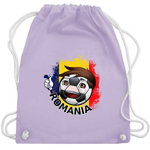 Fußball - Fußballjunge Rumänien - Unisize - Pastell Lila - WM110 - Turnbeutel & Gym Bag