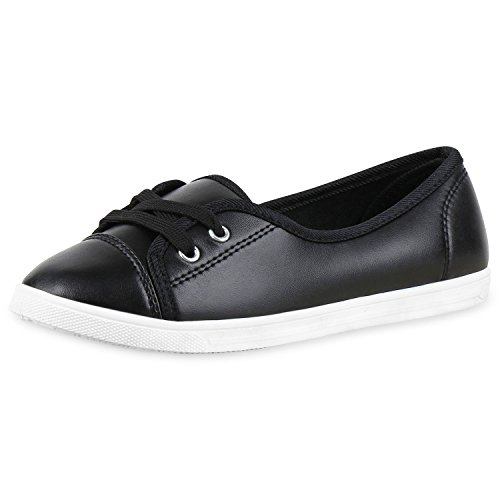 napoli-fashion, Sneaker donna, nero (Schwarz All), 36 EU