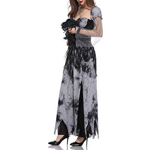 W&TT Halloween-Geist-Braut-Schwarz-Kleid-Vampir Cosplay Stage ()