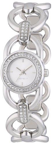 Esprit ES106812001 - Reloj analógico de cuarzo para mujer, correa de acero inoxidable color plateado