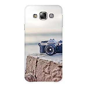 Delighted Camera on Rock Multicolor Back Case Cover for Galaxy E7