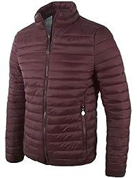 uomo Rosso cappotti Amazon it Giacche piumino e Giacche EHT6qt
