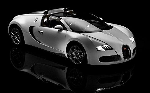 Bugatti Veyron (38x24 inch / 96x60 cm) Silk Print Poster Seide Plakat - Silk Printing - B31B16