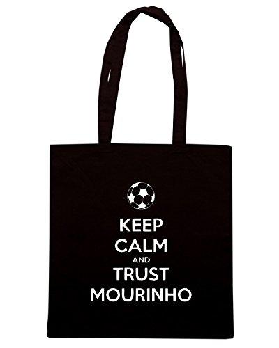 T-Shirtshock - Borsa Shopping WC0432 Keep Calm And Trust Mourinho Nero