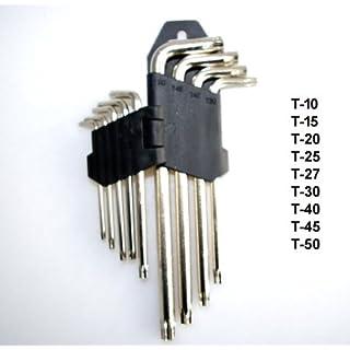 9 tlg Winkel TORX Satz Torxschlüsselsatz T 10 bis T 50 Schraubendreher | F20