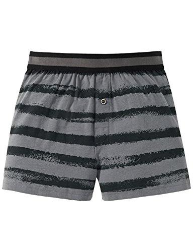 Schiesser Jungen Boxershorts Jerseyboxer Grau (Grau 200), 176 (Herstellergröße: L) (Classic Jersey Shorts)