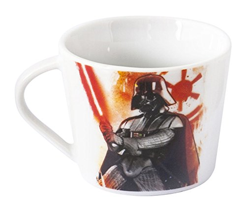 Home Star Wars Taza Té Diseño Darth Vader, Porcelana, Multicolor, 11 x 9 x 7 cm