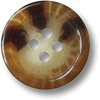 1042bm 10 elegante große beige braun melierte Vierloch Kunststoffknöpfe