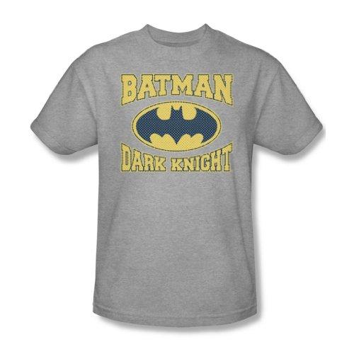 Batman Cavaliere Oscuro, per adulti, in Jersey, filato mélange, S/S-T-Shirt da uomo grigio