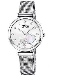 5197d734eb3b Lotus Reloj Analógico para Mujer de Cuarzo con Correa en Acero Inoxidable  18615 1