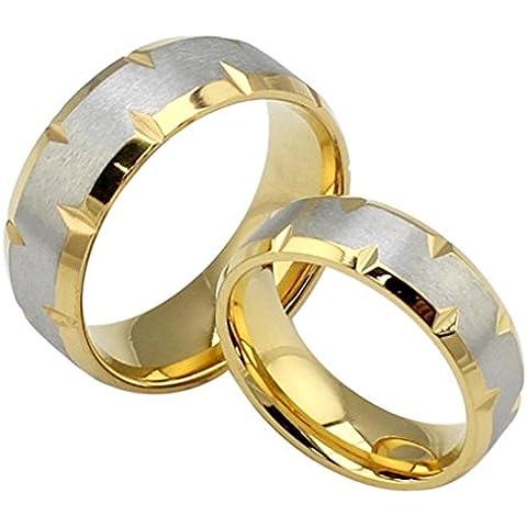 Uomo Donna Matrimonio Banda Acciaio Inossidabile Dull Polacco Promise Ring Oro Larghezza 6Mm -12 Di AieniD