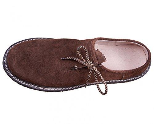 Almwerk Herren Trachtenschuh aus echtem Leder in verschiedenen Farben Braun