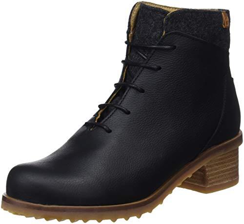 El Naturalista Damen N5108 Soft Grain-Premium Wool Black/Kentia Kurzschaft Stiefel, Schwarz, 38 EU