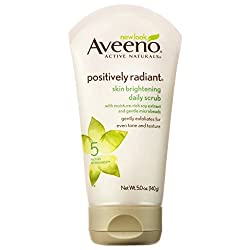 Aveeno Positively Radiant Skin Brightening Daily Scrub Tube Cleansers, 5 oz