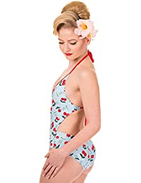 Banned Blindside Vintage Cherry Halter Swimsuit