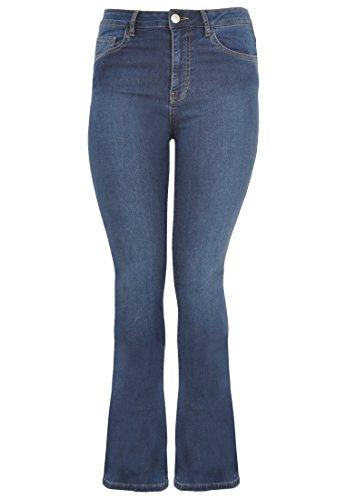 Yoek Damen Übergrößen Jeans Flare Blau, 46 (Jeans 5-pocket-flare)