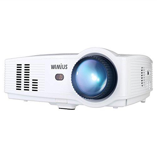 Beamer LED Projektor HD 3200 Lumens 1080P 1280X800 Kontrast 2000:1 Beamer Full HD Videoprojektor f¨¹r Heimkino Multimedia HDMI /USB /VGA /AV mit HDMI Kabel