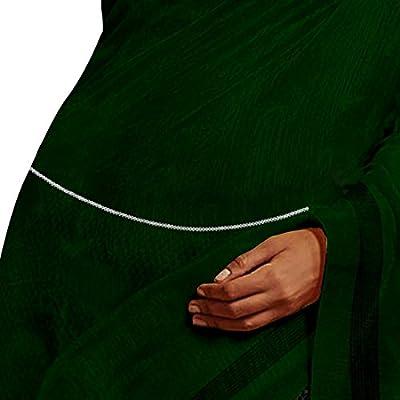 ACCESSHER Silver Brass 2 Line Stone Waist Hoop for Women