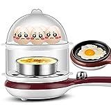 La Cocina Del Huevo, Cocina Rápida Del Huevo 350W, Vapor Del Huevo, Caldera Del Huevo, 14 La Cocina Del Huevo De La Capacidad Del Huevo Con Automático Apagó,Brown