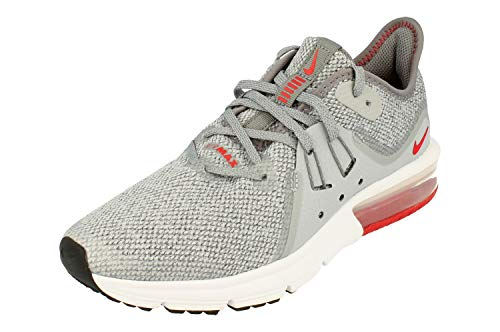 Nike Herren Air Max Sequent 3 (gs) Leichtathletikschuhe, Mehrfarbig (Cool University Red/Wolf Grey/White 003), 38.5 EU - Jordan-iii-cool Grey