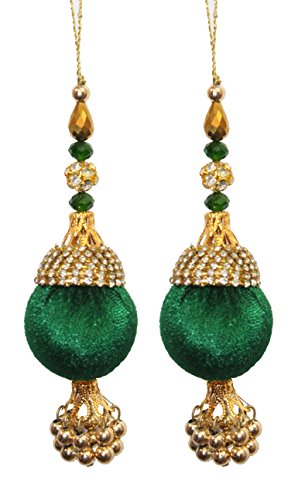 INDO STAR Round Nag-chain latkan / tassel finished with emerald some new...