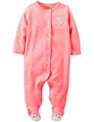 Carter's Baby Girls' Terry Footie (Baby) - Pink - 9 Months Color: Pink Size: 9 Months (Baby/Babe/Infant - Little ones)