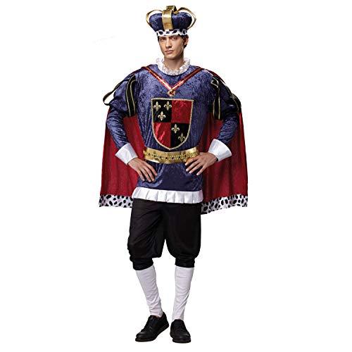 My Other Me Kostüm König mittelalterlichen für Männer-Größe - Königin Der Schwerter Mittelalter Kostüm