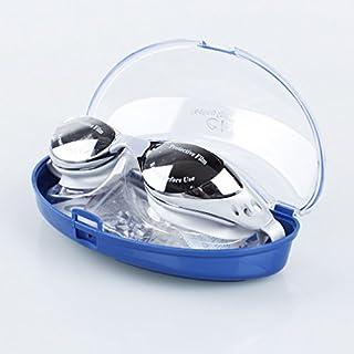 A-szcxtop verstellbar Erwachsene Nicht beschlagende Anti UV Schwimmbrille Schwimmen Brille, silber, Adult and Junior