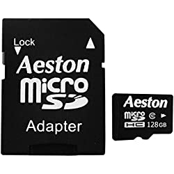 Aeston Micro SDHC 128 GB UHS-1 Class 10 Memory Card with SD Adapter