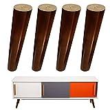4x Möbelfüße aus Holz Sockelfuß für IKEA Regal Schränke Arbeitsplatte Schreibtisch 200mm Nussbaum Tischbeine