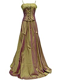 Cherlone oro largo formal Prom Ballgown boda de dama de vestido de fiesta