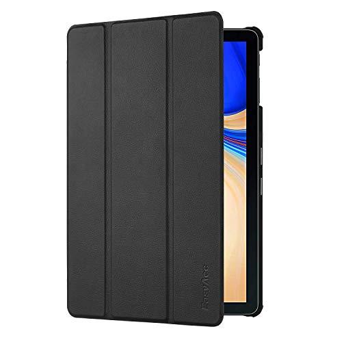 EasyAcc Custodia Cover per Samsung Galaxy Tab S4 10.5, Ultra Sottile Smart Cover in Pelle con Sonno/Sveglia la Funzione per Il Samsung Galaxy Tab S4 10.5 (2018) SM-T830 / T835 Tablet - Nero